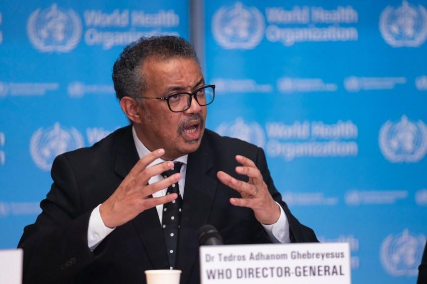 WHO director general speaking on coronavirus (COVID-19)